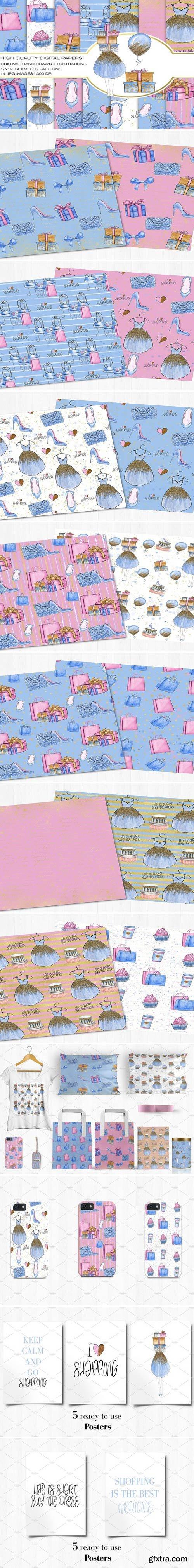 CM - Shopping Digital Paper+Bonus Posters 2200382
