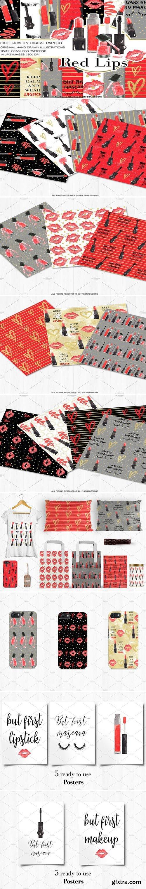 CM - Fashion Digital Paper+Bonus Posters 2195090