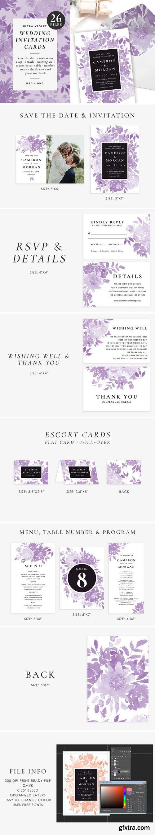 CM - Ultra violet wedding set 2357489
