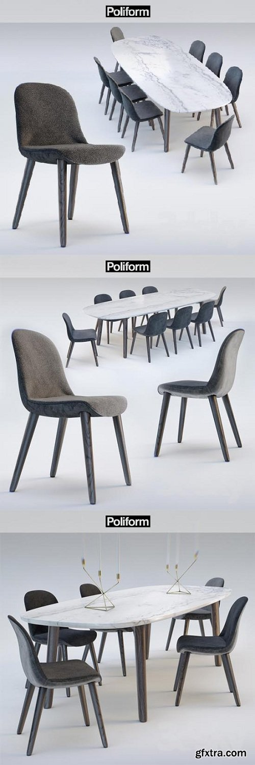 Poliform chair MAD DINNING Chair - MAD DINNING Table