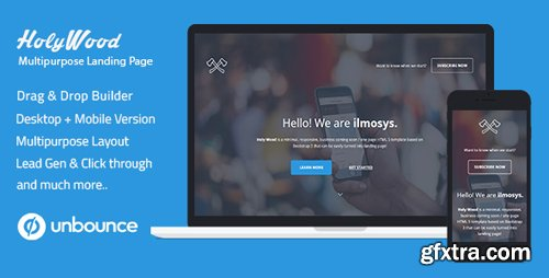 ThemeForest - Unbounce Multipurpose Landing Page Template - Holy Wood v1.0 - 17523562