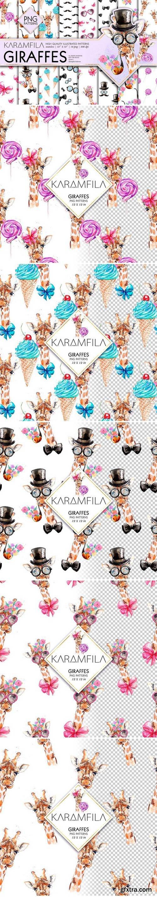 CM - Giraffes Seamless Patterns 1583908