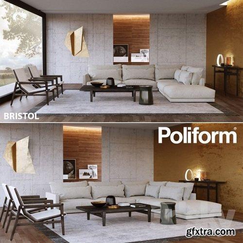 Set from Poliform Bristol 3d Model