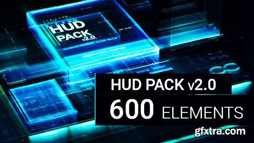 Videohive HUD Pack V2.0 - 600 Elements - 21100353