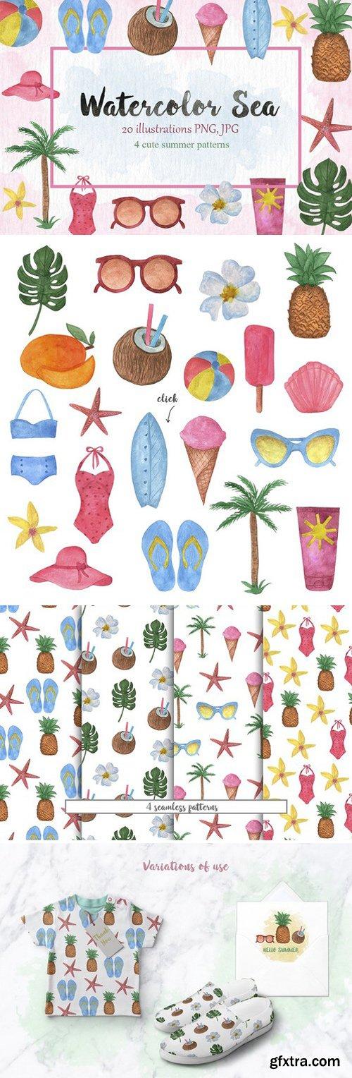 CM - Watercolor Sea Vintage set 1581029