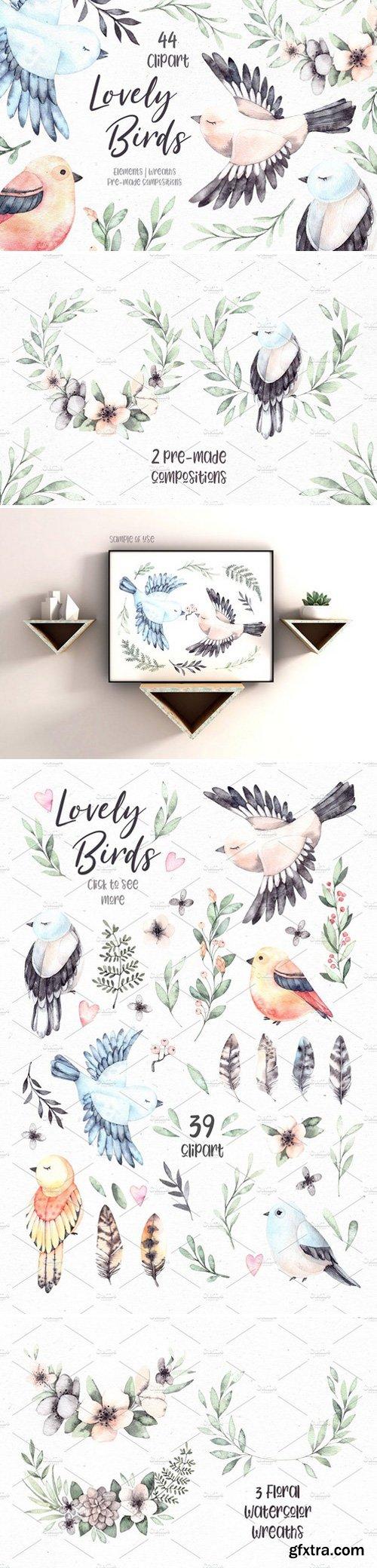 CM - Lovely Birds. Watercolor set 2357190