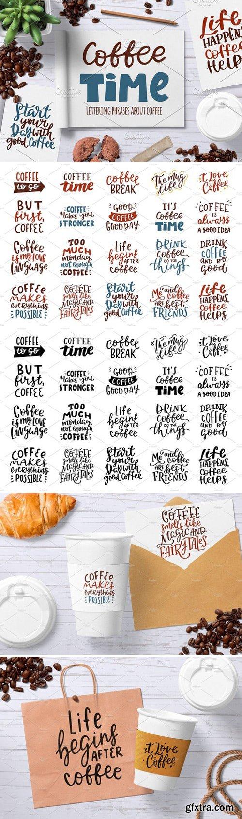 CM - Coffee hand drawn lettering set 2356487