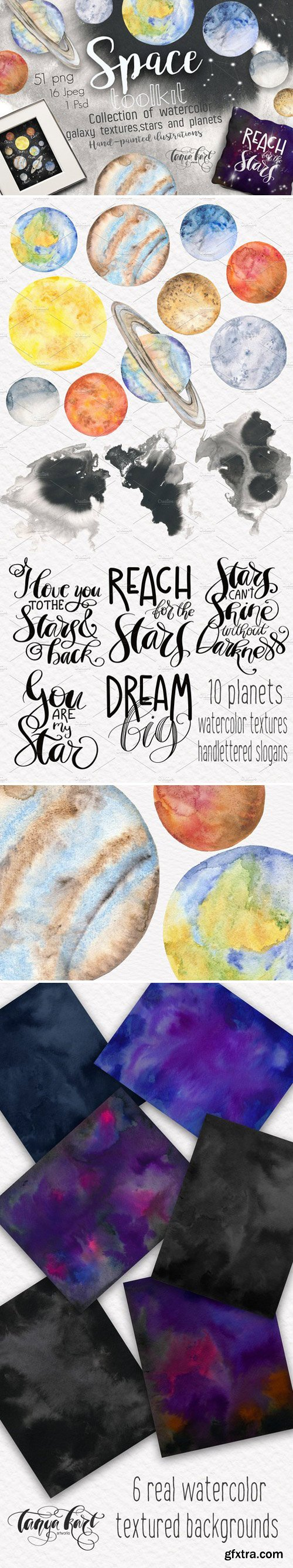 CM - Space Toolkit Watercolor Planets 2354644