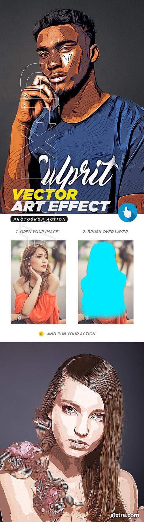 GraphicRiver - Vector Art Photoshop Action 21669828