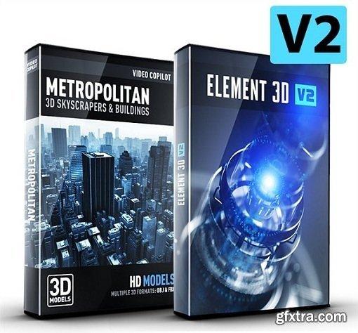 Video Copilot Element 3D V2.2.2 + Metropolitan Pack