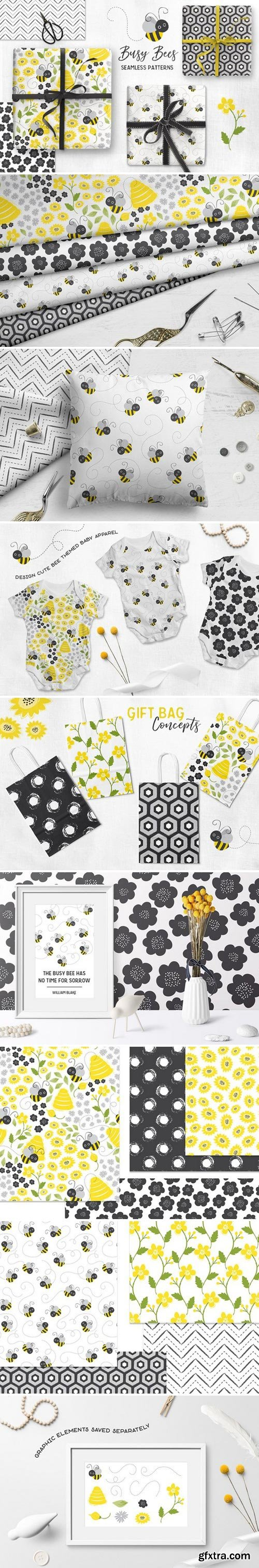 CM - Busy Bees Baby Vector Patterns 2355971
