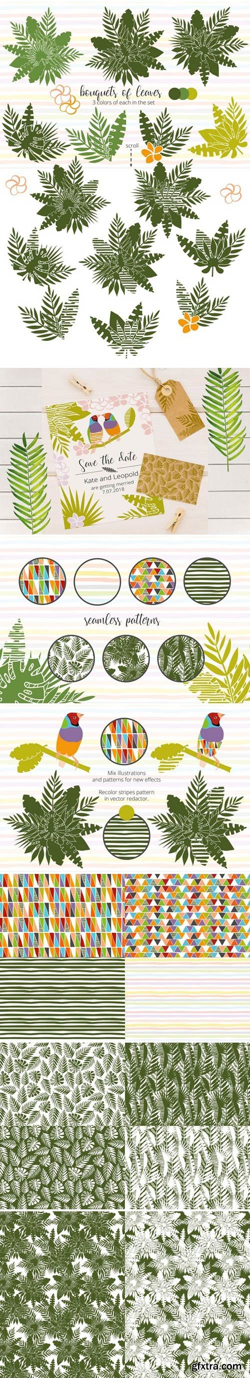 CM - Tropical dreams.Clipart and patterns 2352330