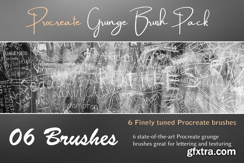 CM - Procreate Grunge Brush Pack 2381593 » GFxtra