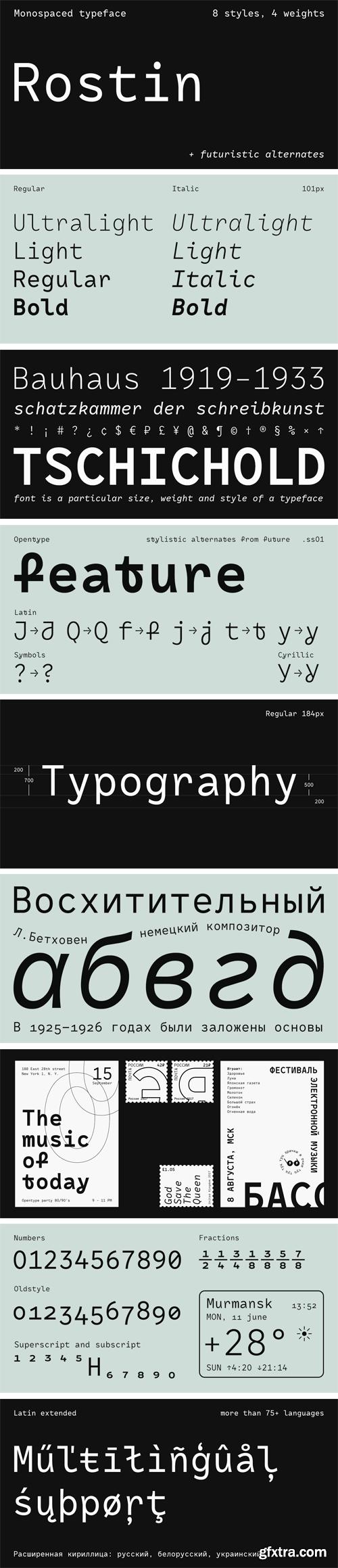 RF Rostin Font Family