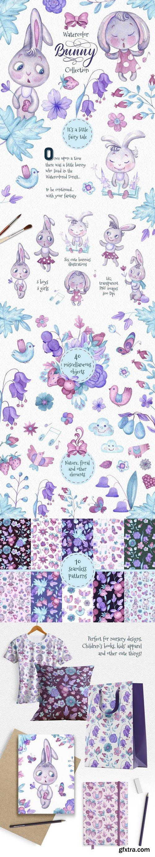 CM - Bunny. Watercolor Сollection 2353120