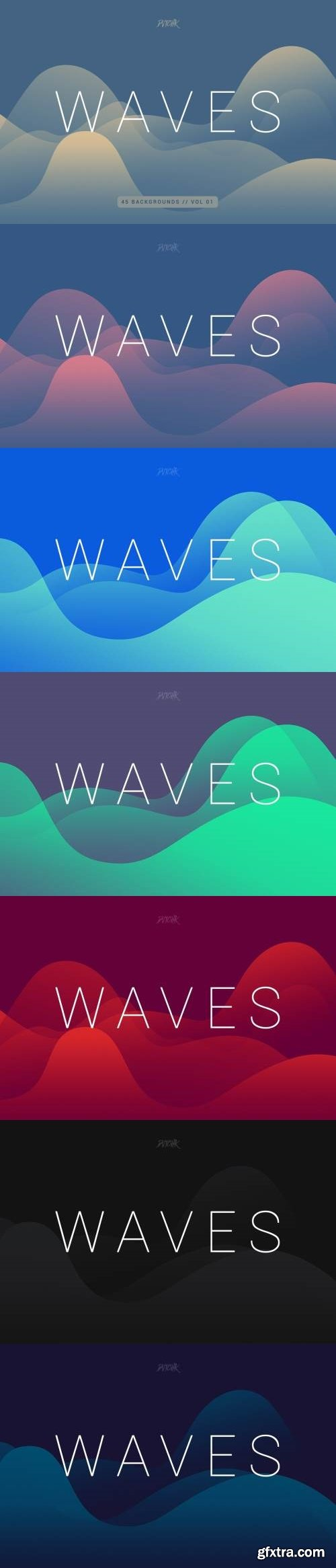Waves | Smooth Colorful Backgrounds | Vol. 01