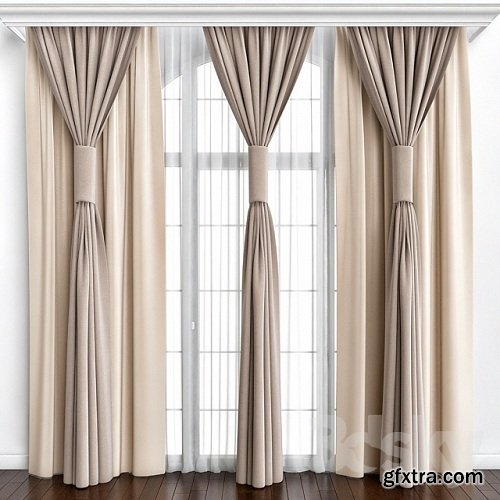 Curtains_26 3d Model