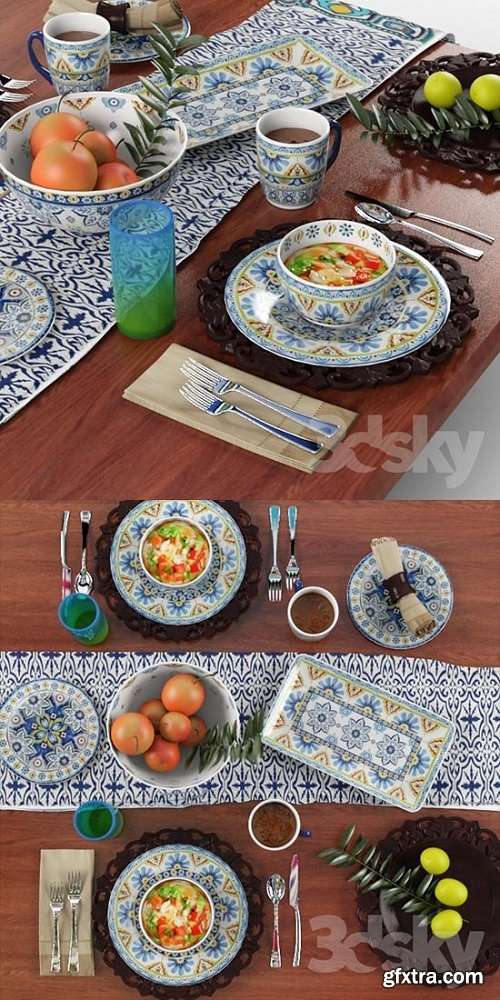 Tableware Mediterranean Mix