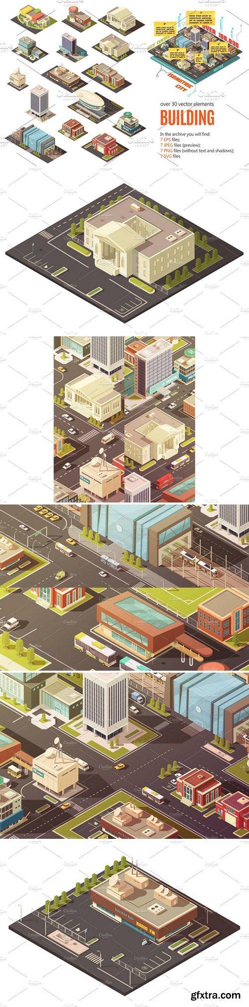 CM - City Buildings Isometric Set 2379443
