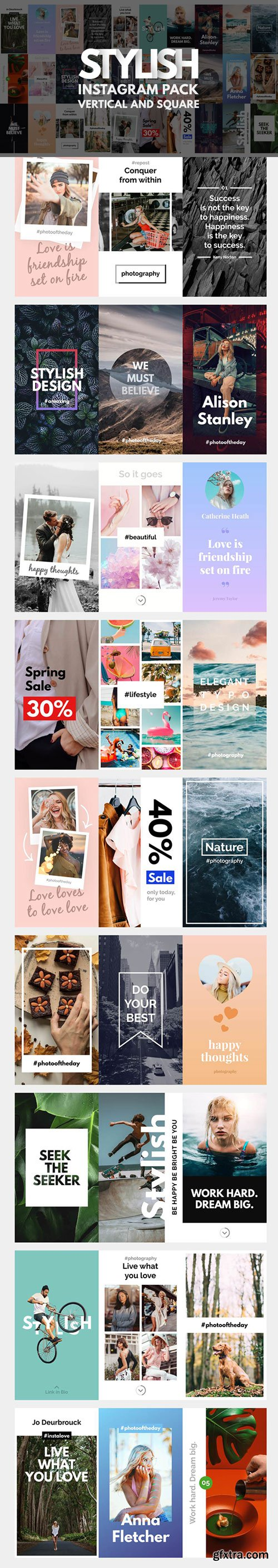 Videohive - Instagram Stories Pack | Vertical and Square - 21692676
