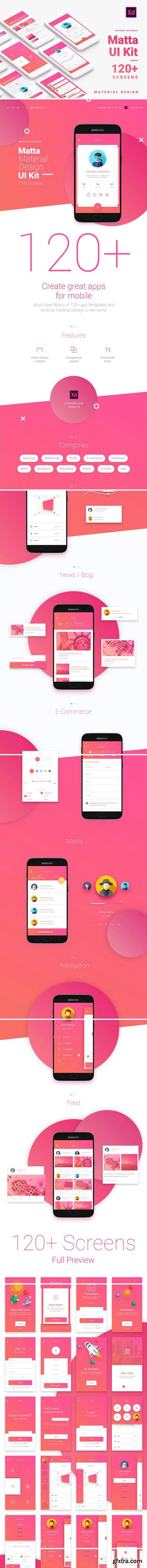 CM - Material Design Mobile UI Kit for Xd 2369431