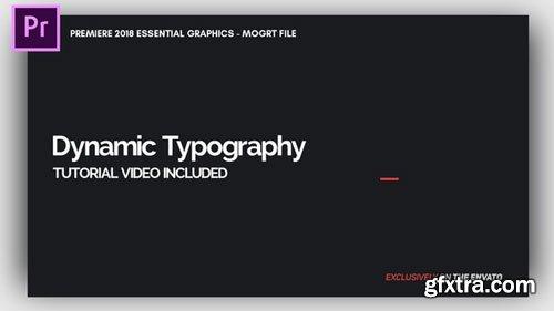 Videohive - Dynamic Minimalism - Essential Graphics   Mogrt - 21637324