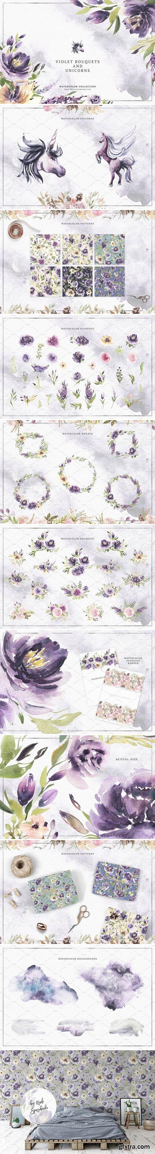 CM - Violet Bouquets & Unicorns 2377995
