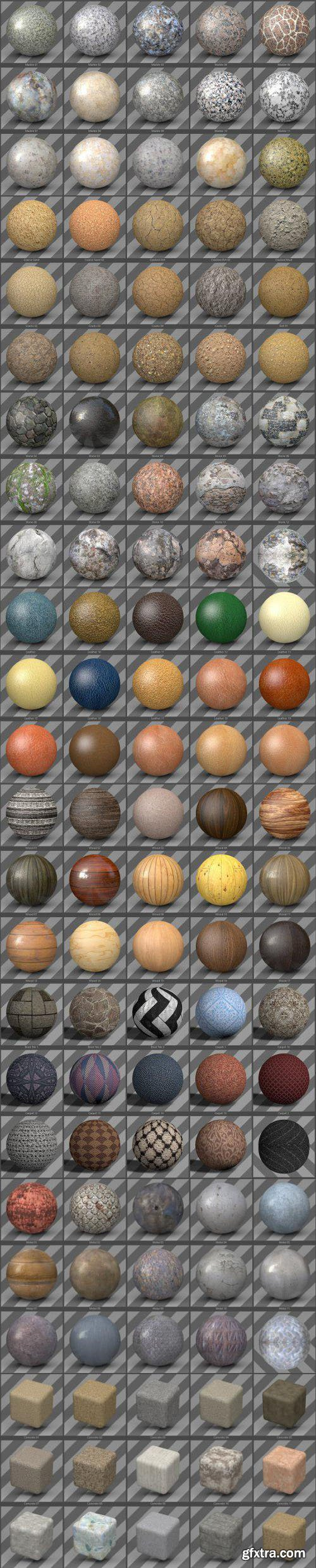 450+ 3D Texture Pack Infinite for Cinema 4D