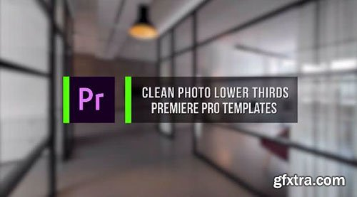 Clean Photo Lower Thirds - Premiere Pro Templates 77048