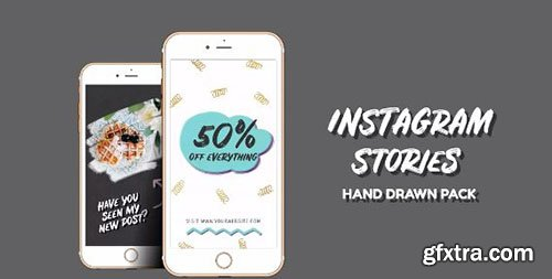 Instagram Stories Hand Drawn Pack - Premiere Pro Templates 77038