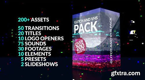 200+ Glitch Pack - Premiere Pro Templates 77131