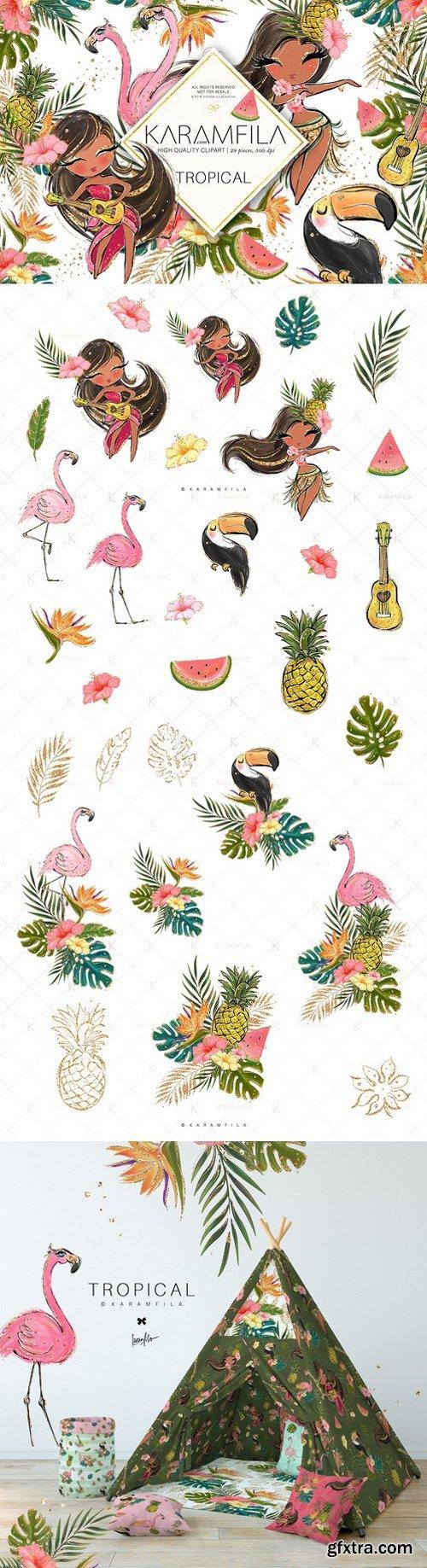CM - Hawaii Hula-Girls Clipart 2377547