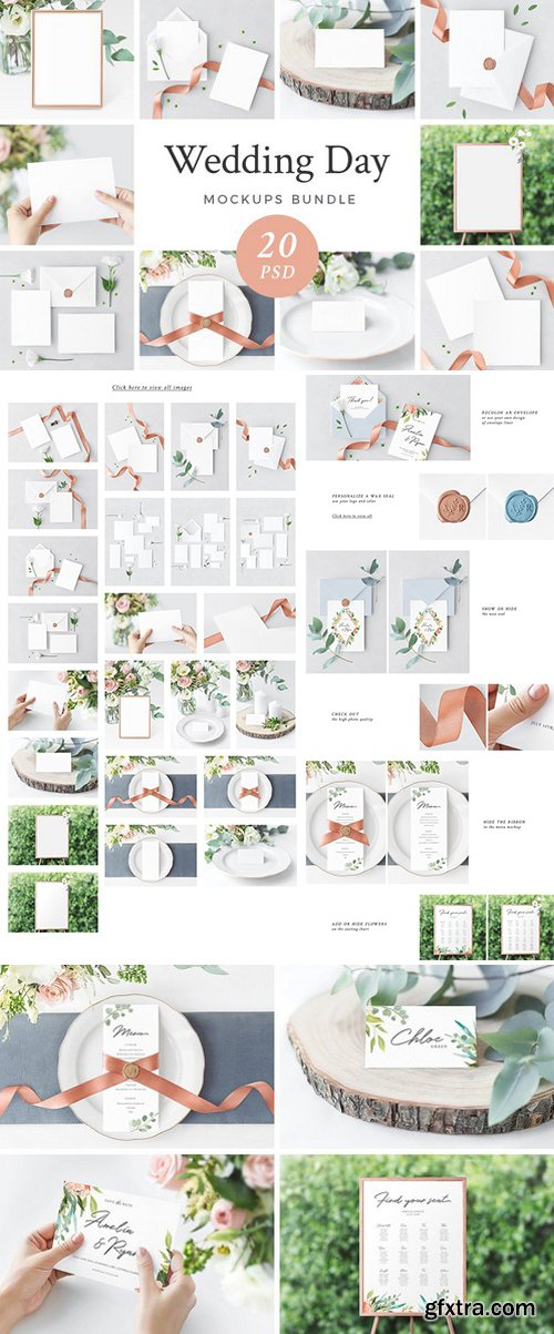 CM - Wedding Day Mockups Bundle 1981098