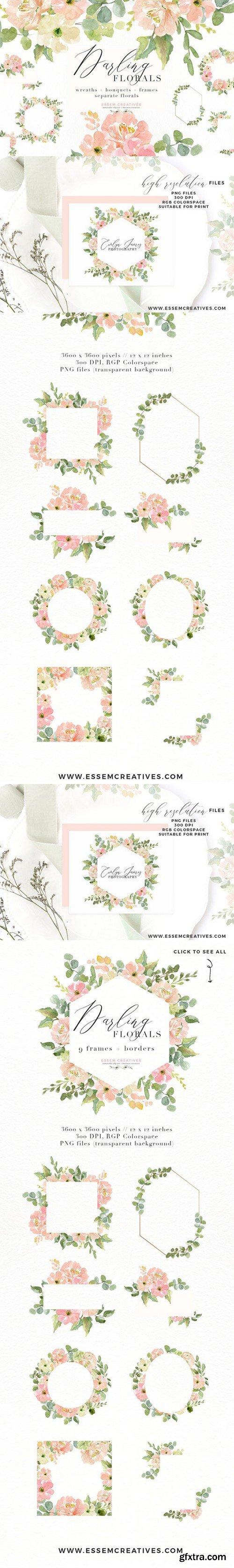 CM - Wedding Invite Watercolor Flower PNG 2402689