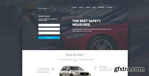 ThemeForest - Rental Rides v1.0 - Unbounce Landing Page - 21770935