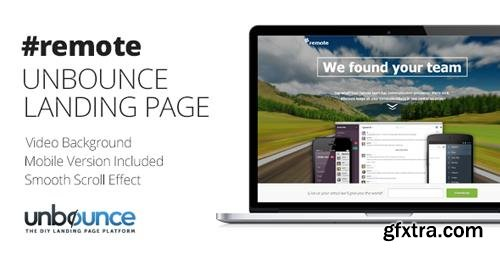 ThemeForest - Remote v1.0 - Unbounce Landing Page with Fullscreen Video Header - 7332312