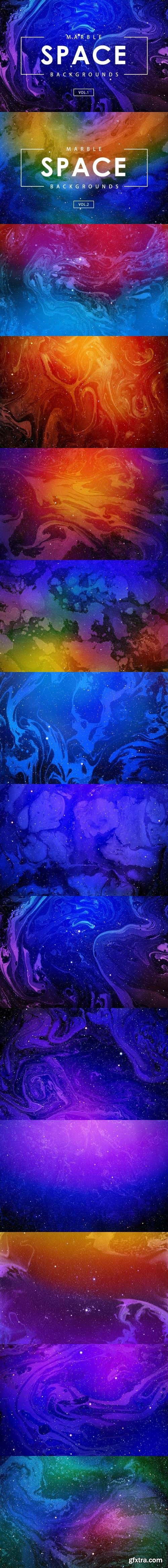 Space Marble Backgrounds Bundle