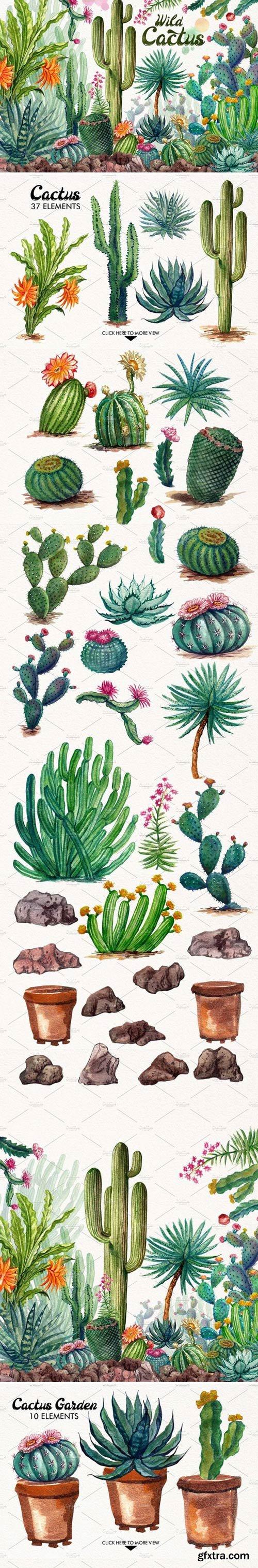 CM - Watercolor Cactuses 1485736
