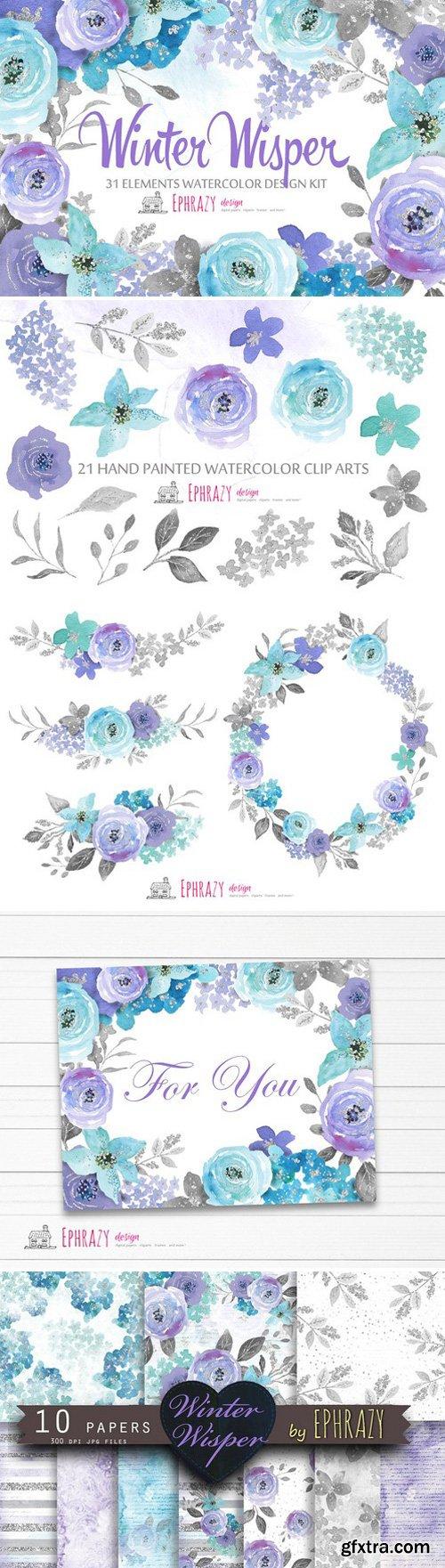 CM - Floral watercolor clipart 1566761