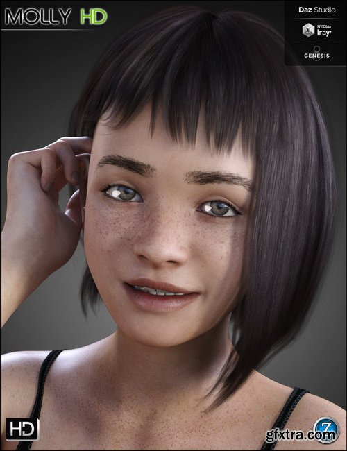 Daz3D - Molly HD for Genesis 8 Female » GFxtra