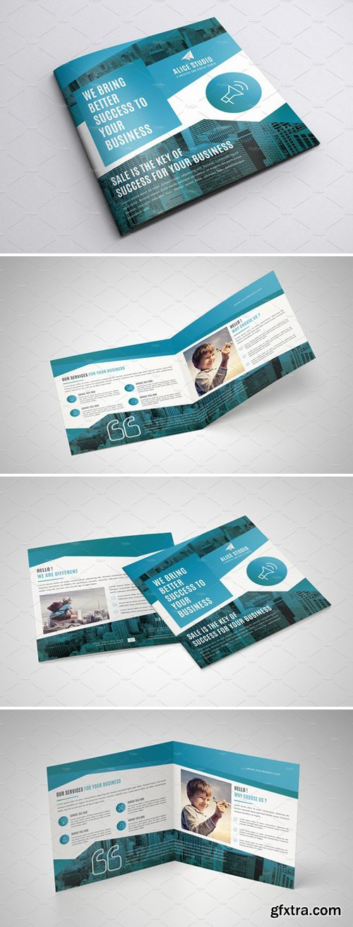 CM - Square Bi-Fold Brochure Template 2427672