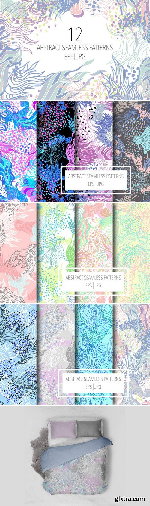 CM - 12 Abstract seamless patterns 1566321