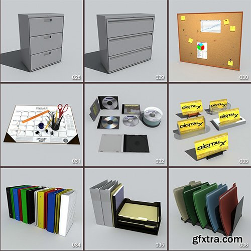 DigitalXModels - 3D Model Collection - Volume 6: OFFICE