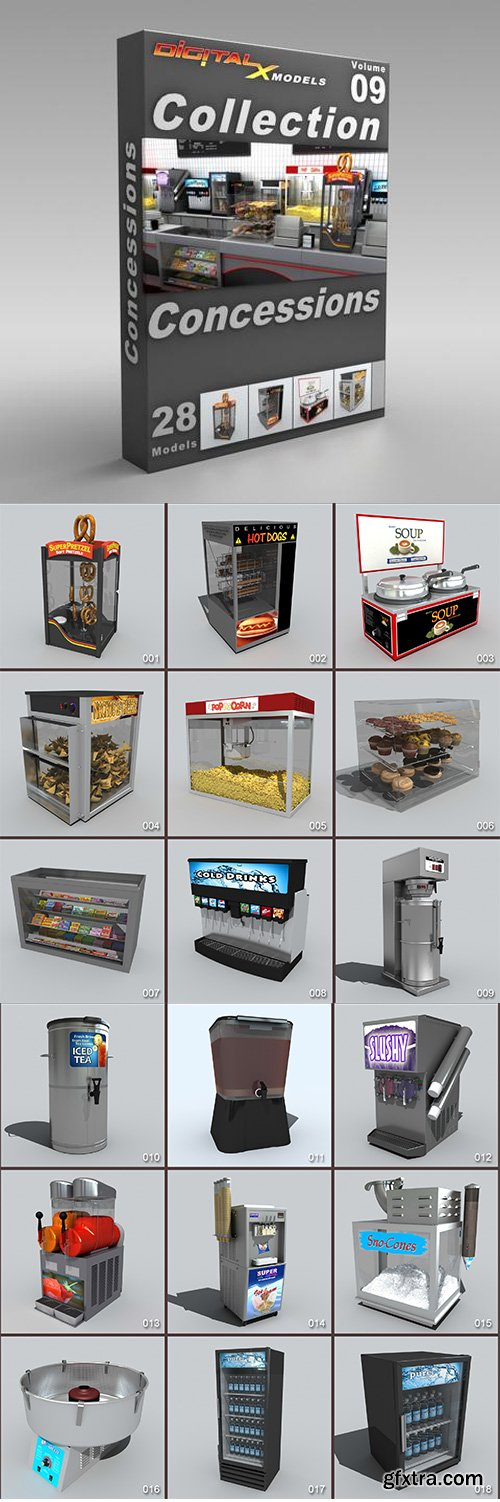 DigitalXModels - 3D Model Collection - Volume 9: CONCESSIONS