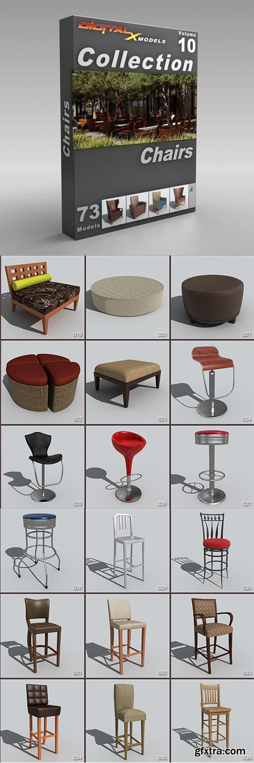 DigitalXModels - 3D Model Collection - Volume 10: CHAIRS