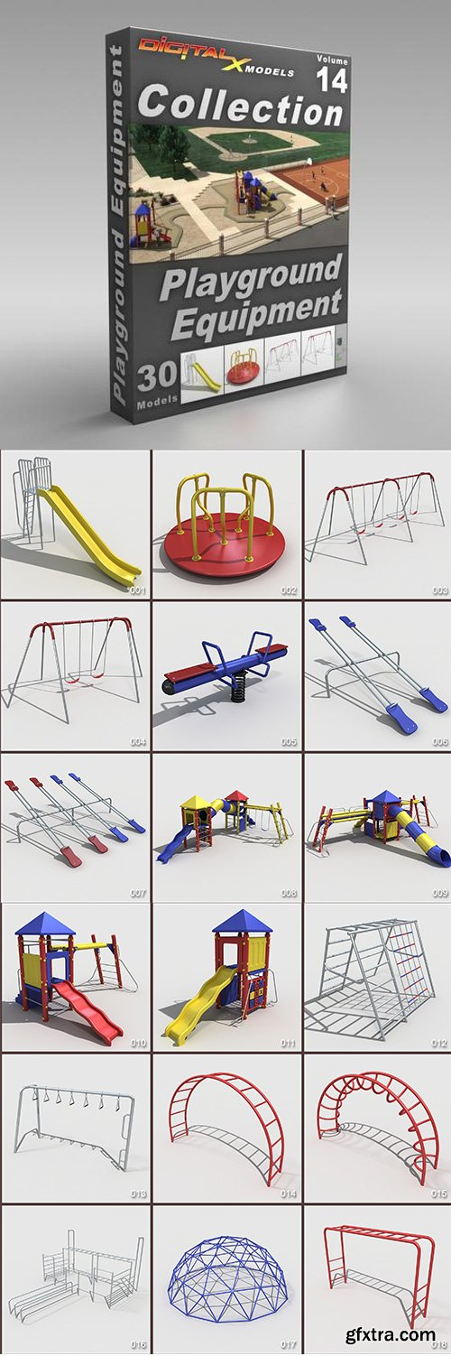 DigitalXModels - 3D Model Collection - Volume 14: PLAYGROUND