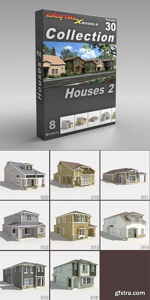 DigitalXModels - 3D Model Collection - Volume 30: HOUSES 2
