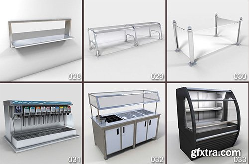 DigitalXModels - 3D Model Collection - Volume 31: RESTAURANT EQUIPMENT