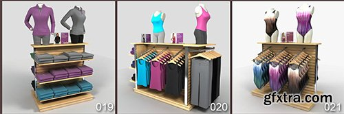 DigitalXModels - 3D Model Collection - Volume 33: ATHLETIC APPAREL