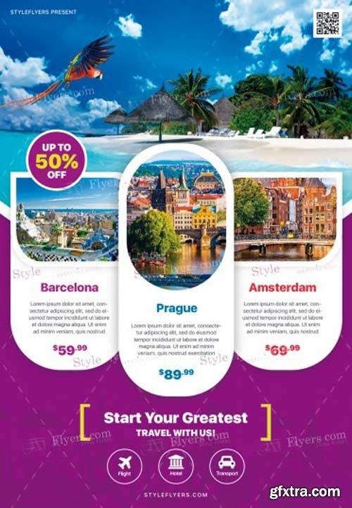 Travel V6 2018 PSD Flyer Template